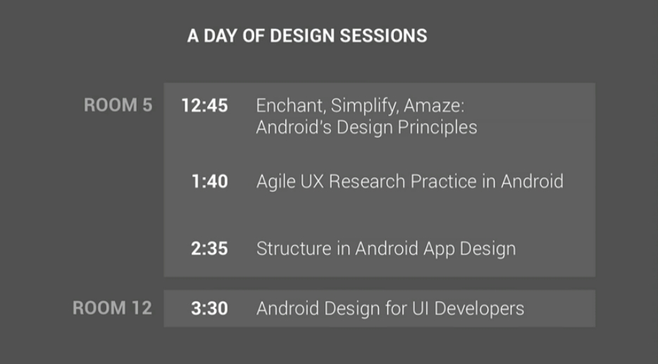 7 conférences design Android